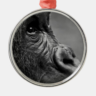 Gorilla Portrait Metal Ornament