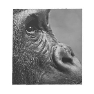 Gorilla Portrait Notepad