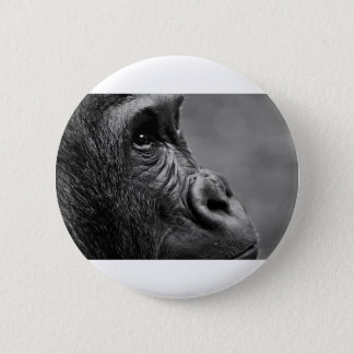 Gorilla Portrait Pinback Button