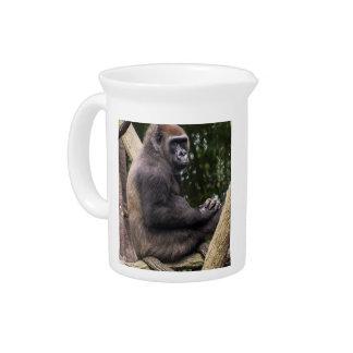 Gorilla Portrait Beverage Pitchers