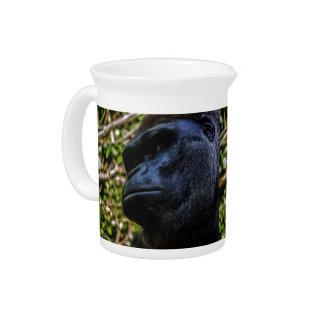 Gorilla Portrait Drink Pitchers