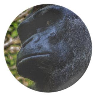 Gorilla Portrait Plate