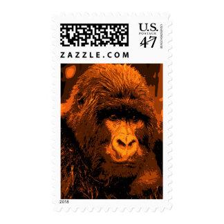 Gorilla Portrait Postage Stamps