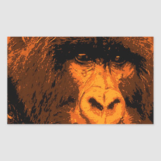 Gorilla Portrait Rectangular Sticker