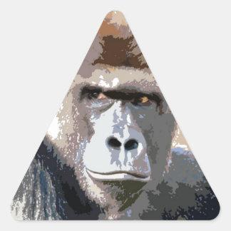 Gorilla Portrait Triangle Sticker