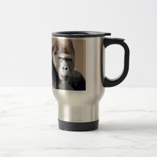 Gorilla Portrait Travel Mug