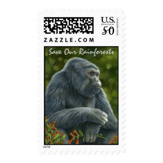 Gorilla Postage Stamp