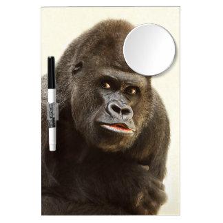 Gorilla Pout Dry Erase Board With Mirror