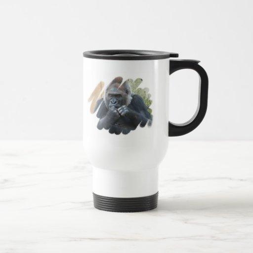 Gorilla Primate Plastic Travel Mug
