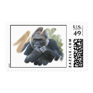 Gorilla Primate Postage Stamp