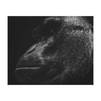 Gorilla Primate Wildlife Photo Stretched Canvas Print
