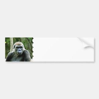 Gorilla Profile Bumper Stickers