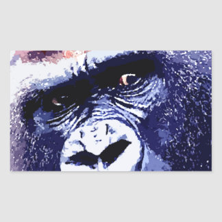 Gorilla Rectangular Sticker