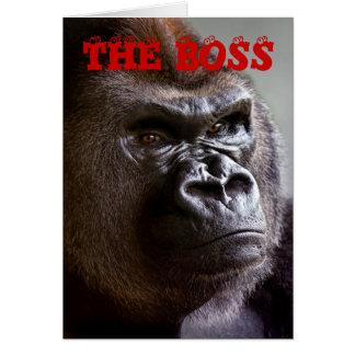 Gorilla Silverback The Boss Bosses Day Card