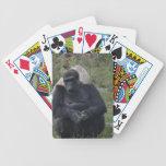 Gorilla sitting bicycle poker cards