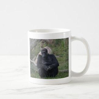 Gorilla sitting coffee mug
