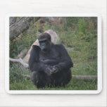 Gorilla sitting mousepad