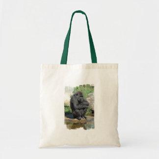 Gorilla Sitting Tote Bag