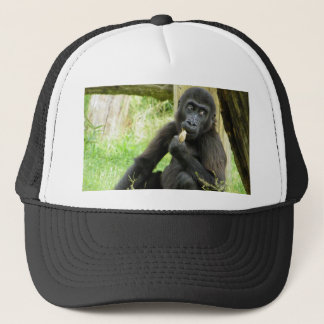 Gorilla Snacking Trucker Hat