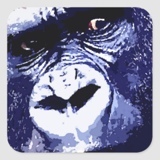 Gorilla Square Sticker