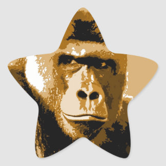 Gorilla Star Sticker