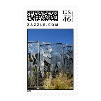 Gorilla Statue Postage Stamps