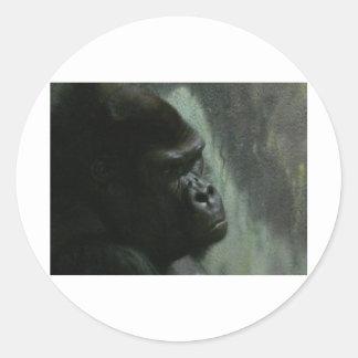 gorilla round stickers