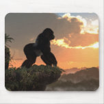 Gorilla Sunset Mouse Pad at Zazzle