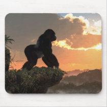 Gorilla Sunset Mouse Pad