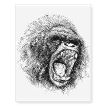 Gorilla Temporary Tattoos