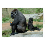 Gorilla Time Out Greeting Card