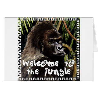 gorilla to welcome the jungle