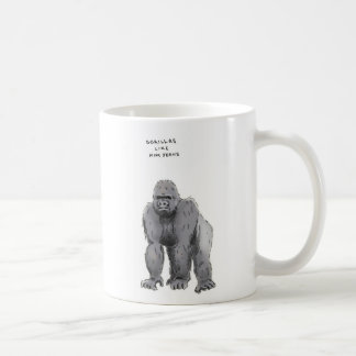 gorilla trivia classic white coffee mug