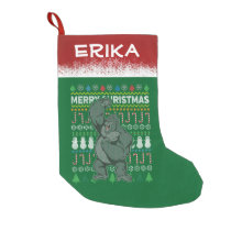 Gorilla Ugly Christmas Sweater Wildlife Series Small Christmas Stocking