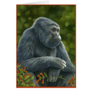 Gorilla Valentine's Card