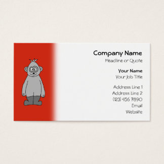 Gorilla Wearing Boots. Business Card
