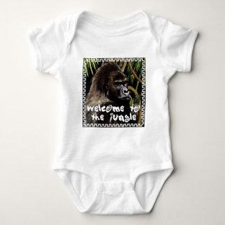 gorilla welcome ton the jungle baby bodysuit