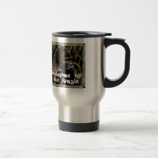 gorilla welcome ton the jungle travel mug