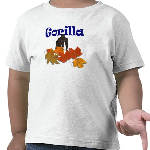 Gorilla wild animals kids t-shirt