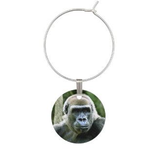Gorilla Wine Glass Charm