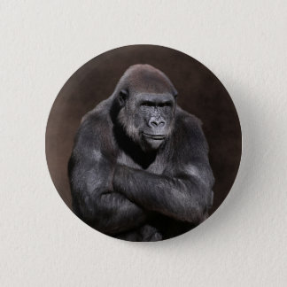 Gorilla with Attitude Pinback Button