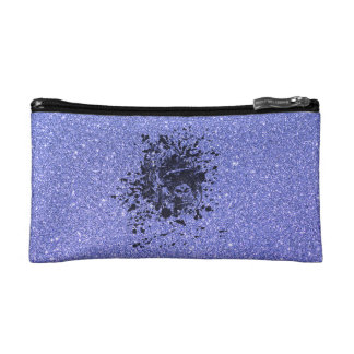 Gorilla with Blue Glitter Cosmetic Bag