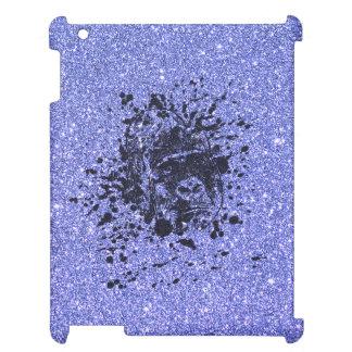 Gorilla with Blue Glitter iPad Cover