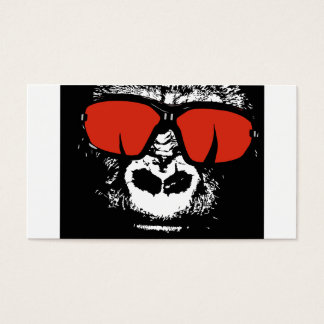 Gorilla with glasses business card
