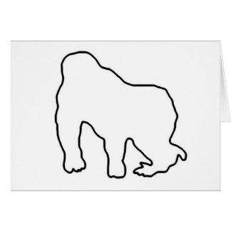 Gorilla Zoe Card - Gorilla Outline