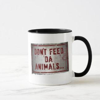 Gorilla Zoe Mug - Don't Feed Da Animals
