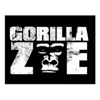 Gorilla Zoe Postcard - Logo
