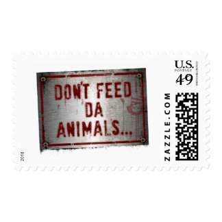 Gorilla Zoe Stamps - Don't Feed Da Animals