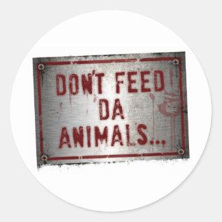 Gorilla Zoe Sticker - Don't Feed Da Animals