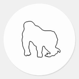 Gorilla Zoe Sticker - Gorilla Outline